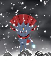 Weavile Using Ice Punch by sVxShadow