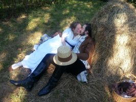 In the hay! by LadyCafElfenlake
