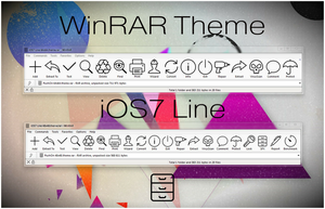 iOS7 Line WinRAR theme by alexgal23