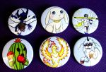 Digimon monster button set by MischievousPooka