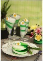 Homemade Marshmallow Creme w/ Homemade Mint Jello by theresahelmer
