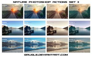Nature Photoshop Actions Set II by Grugle