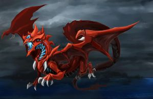 Slifer the Sky Dragon - Thunder by slifertheskydragon