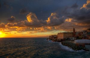 Nervi Sunset by AzeemElvehir
