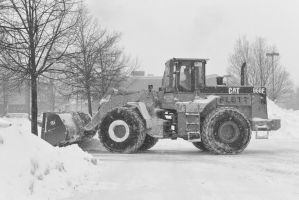 2015 February Snow Storm, BullDozing the Snow 6 by Miss-Tbones