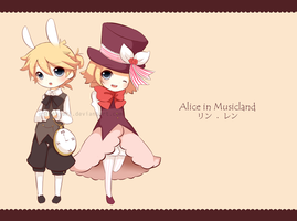 Alice in Musicland - Rin x Len by giannysuki