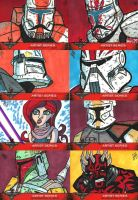 501st Celebration VI Sketch Cards 02 by JoeHoganArt