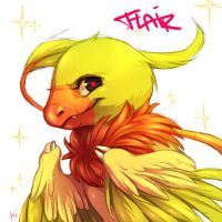 Flair, the shiny archen by Aishishi
