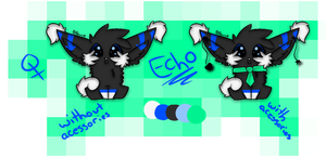 One Of a Kind Adoptable - Echo ( CLOSED ) by xx-BREAKTHEBEAT-xx