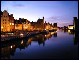 Gdansk by night by Nailo