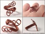 Copper Swirls by KsenyaDesign