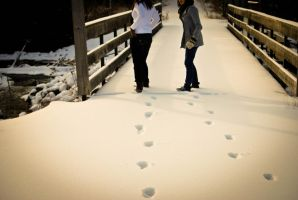 footprints in the snow by elmiry