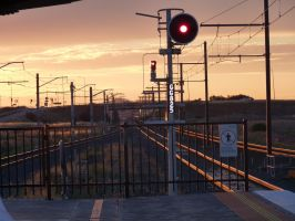 Sunset Over the Train Platform, #2 by Just-To-Look1