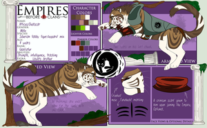 EBC: Atticus Reference Sheet by celestialMayday