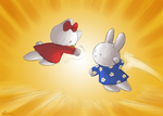 Hello Kitty Vs Miffy by TopperHay