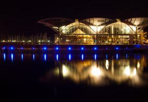 Waterfront at Night by DanielleMiner