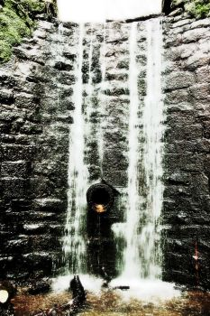 Sewer waterfall. by Canon-Ash