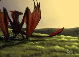 Drogon  from Game of Thrones by quinnk