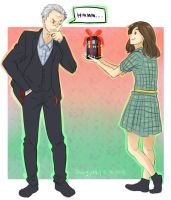 Tardis Christmas -- Pied-wagtail Request by staypee