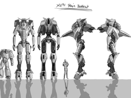 XV91 Strain battlesuit design by shadowseer66