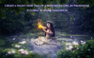 Create a Night Fairy Tale of a Mysterious Girl by MariaSemelevich
