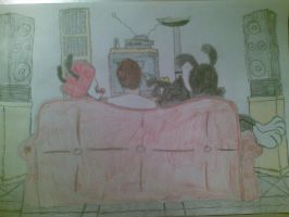 Animaniacs and I whatch TV by CiderJack1