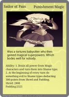 Sailor of Pain Diaper Clash trading card by BookwormAndy