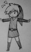 Toon Link doodle by HyruleHistorian