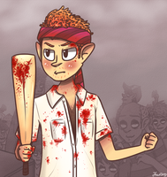 zombies fuk the heck off i s2g by julzmae