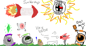 Medi-sun Worshiping :D by IndecisiveDork