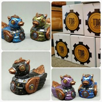 Blind Box Steampunk Devil Duck by tanyadavisart