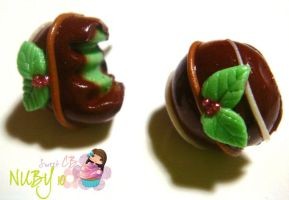 Chocolate Mint Studs by colourful-blossom