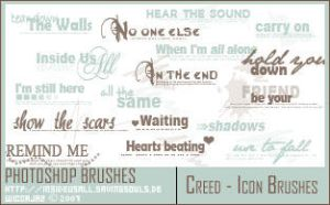 Creed Lyric Brushes by WiccaJaz
