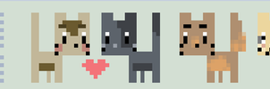 Pixel Cat Army by Meli-chan3