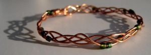copper bangle by solitarymuse