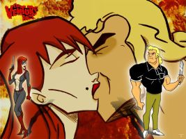 Venture Bros-Brock and Molotov by CamT
