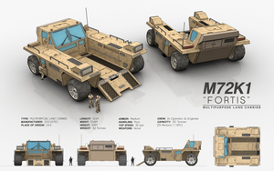 M72K1 FORTIS - Multipurpose Land Carrier by cr8g