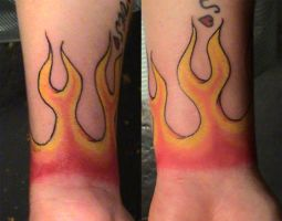wrist flames 01 by deadloser13