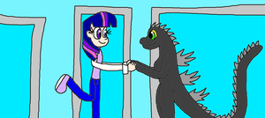 Twilight Sparkle and Godzilla: Happiness and Love! by Devon13168
