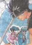 Ice+Fire Demon Hiei 02 by Inuyasha-Ryou