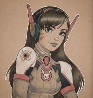 D.Va by chrissie-zullo