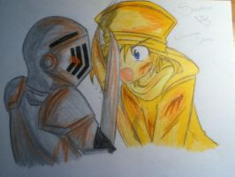 Stephano VS Untrustable Statue by judy2468