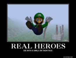 Luigi is a true hero by idris2000