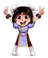 Vanellope x Chun li by courtneygodbey