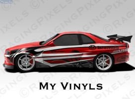 Side decal for my skyline r34 by ragingpixels