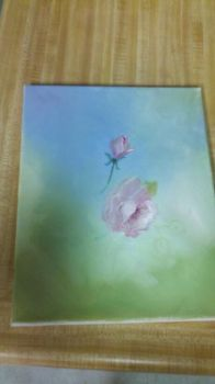 Unfinished Rose Painting by SHEERROSE