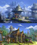 Glintadale: Silver Arch City and Bluemary Tavern by wang2dog