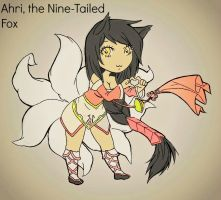 Recolored Chibi Ahri! yeeeeey! by MrsTango