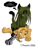 Envy-Cat and Ed-dog by Heliotrope-Housecat