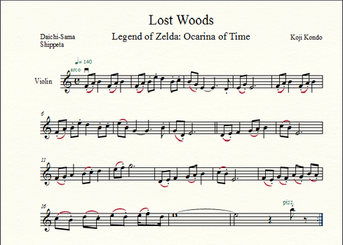 Lost Woods for Violin - Edited by shippeta